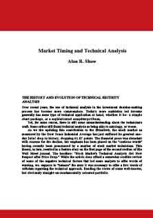 Market Timing and Technical Analysis