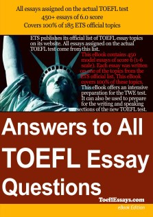 Answer To All TOEFL Essay Questions