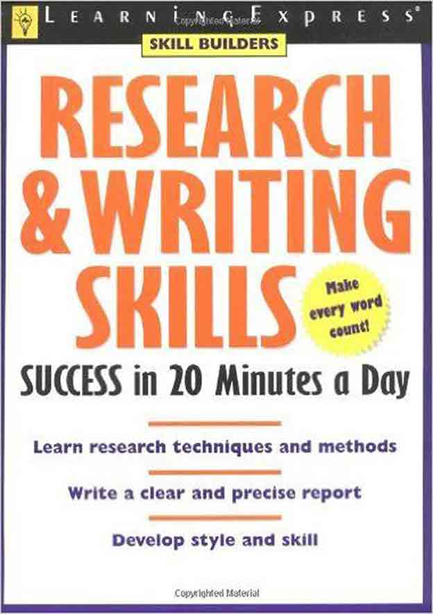 دانلود کتاب research & writing skills success in 20 minutes a day pdf