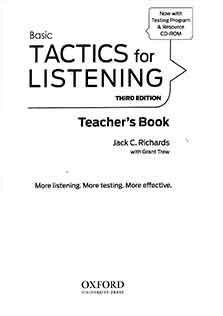 Tactics For Listening Basic Teacher Book