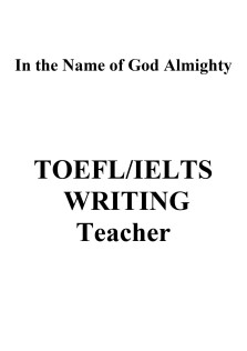 TOEFL and IELTS Writing Teacher