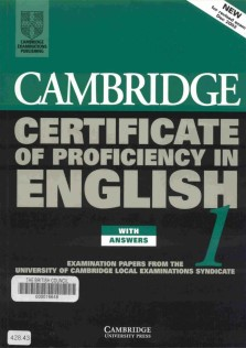 Cambridge Certificate Of Proficiency  English1
