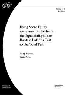 Score Equity Assessment