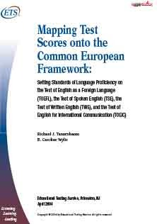 Mapping Test Scores Onto Common EU Framework