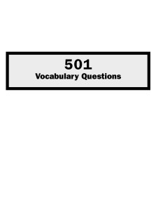 501vocabulary questions