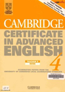 Cambridge Certificate In Advanced English Teachers Book 4