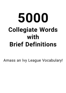 5000Collegiate Words With Brief Definitions