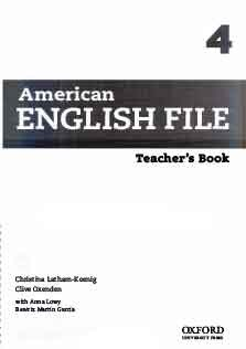 American English File 4 Teacher Book