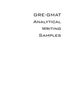دانلود کتاب GRE-GMAT Analytical Writing Sample pdf