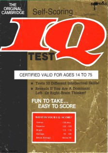Cambridge Self Scoring IQ Test
