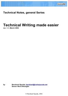 Technical Writing Made Easier