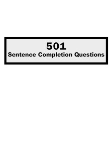 501Sentence Completion Questions