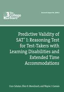 Predictive Validity of SAT