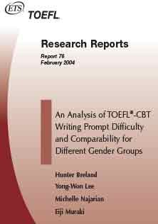 TOEFL CBT Writing Prompt Difficulty