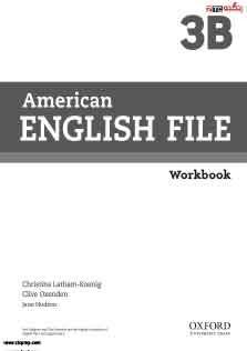 American English File 3B Work Book
