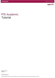 PTE Academic Tutorial