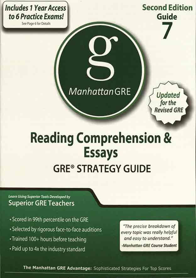 دانلود کتاب Manhattan GRE: Reading Comprehension & Essays 7 pdf