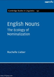 Cambridge Studies Linguistics English Nouns The Ecology Nominalization