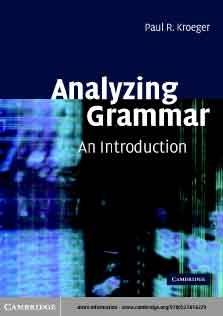 Analyzing Grammar An Introduction