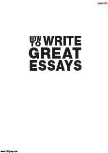 How To Write Great Essay