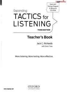 Tactics For Listening Expanding Teacher Book