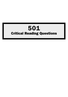 501critical reading questions
