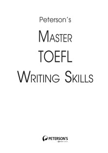 Petercons MASTER TOEFL WRITING SkILLS