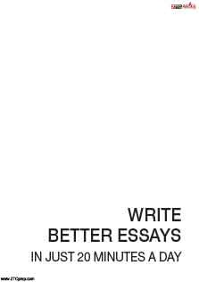 Write Better Essay In Just 20 Minutes a Day
